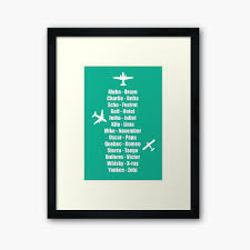 The international phonetic alphabet (ipa) is a the international phonetic alphabet (ipa) is a system where each symbol is associated with a particular english sound. Pilot Phonetic Alphabet Military Cadet Airplanes Framed Art Print By Creativetwins Redbubble