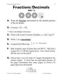 Percentage Word Problems Fractions Decimals Percents Worksheets ...