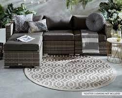 grey 4 piece corner sofa set florida