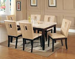 marble dinette set sets white marble top dining table set cream dining table with leather chairs