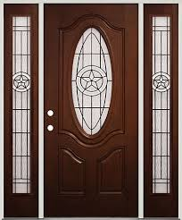 prefinished entry doors. pre-finished mahogany fiberglass door with sidelites texas star #60 - front entry prefinished doors
