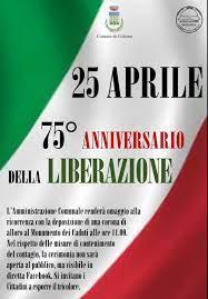 25 APRILE 2020 - 75 ANNIVERSARIO DELLA LIBERAZIONE - Comune di Cisliano
