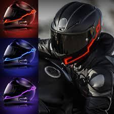 Motorcycle Helmet Light Kit Sizet 2pcs Helmet Lighting Kit Bright Light Night Riding Safety Signal Flashing Stripe Bar Sticker Cool Motorcycle Cold Light