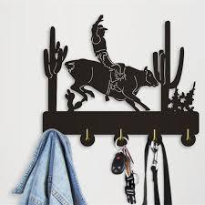 Cowboy Coat Rack Interesting 32Piece American Style Cowboy Riding A Bull Coat Hanger Wall Coat