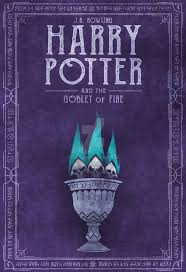 harry potter book 4 purple book cover
