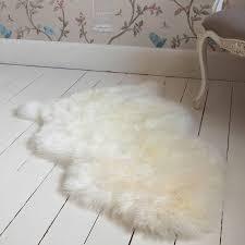 image of ikea fur rug sheepskin