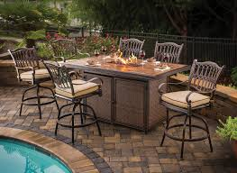 tall patio table. Tall Patio Table With Fire Pit P