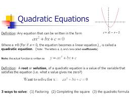 3 quadratic equations