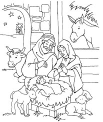 Welcome to the nativity coloring pages page! Nice Manger Scene Nativity Coloring Page Nativity Coloring Pages Nativity Coloring Jesus Coloring Pages