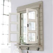 mirror key rack. window/mirror coat or key rack mirror
