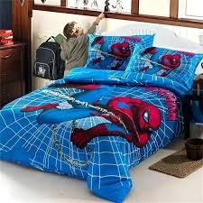 spiderman full size bedding boys bedding set kids iron man duvet cover bed sheet pillowcase for