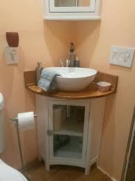 finished corner vanity bathroom remodel
