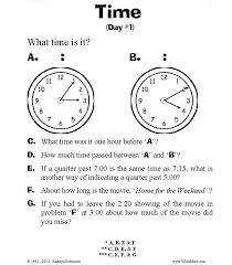 Teaching Telling Time Worksheets   3rd, 4th, 5th Grade