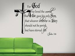 interior john 3 16 for god so religious wall decal quotes jesus comfortable decals 7 on christian vinyl wall art quotes with interior religious wall decals john 3 16 for god so religious wall