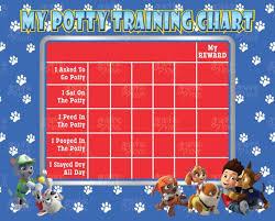 Potty Training Chart Printable Paw Patrol Printable Paw Patrol Potty Training Chart Free Punch Cards