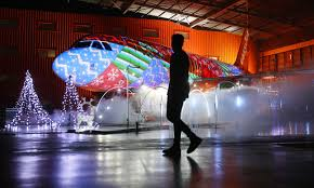 Worlds Biggest Christmas Lights Show On A Plane Takes