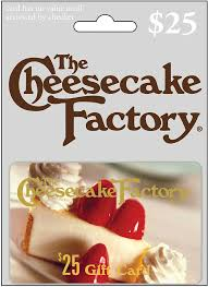 the cheesecake factory 25 gift card the cheesecake factory 25 best