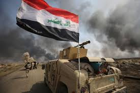 recapturing oval office. Iraqi Forces And Hashed Al-Shaabi Paramilitary Fighters Hold A Position As  They Advance Towards Recapturing Oval Office