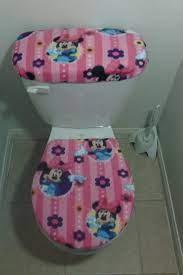 Disney Minnie Mouse Fleece Fabric Toilet Seat Cover Set Etsy