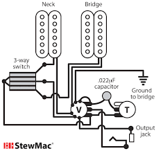 switchcraft 3 way toggle switch stewmac com this wiring diagram is suitable for any two pickup guitar humbuckers single coils or a combination of both master volume master tone