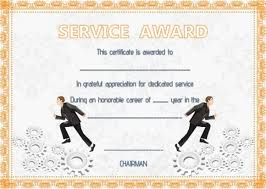 Years Of Service Award Wording Sample Certificate Of Appreciation 10 Year Service Award Template