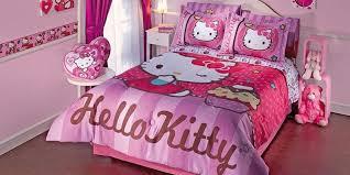 A Hello Kitty Bedroom Set Queen Size Teen Girls Bed Bedding