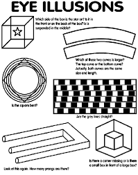 Small Picture Eye Illusions Coloring Page crayolacom