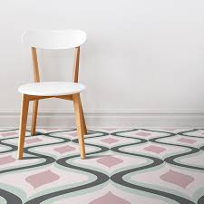 image of our jolo geometric home decor pattern printed as modern vinyl flooring from forthefloorandmore
