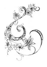 эскиз тату узора изящных цветов фото в салоне Tattoo Times