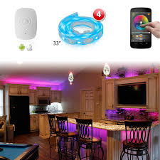 control lighting with iphone. Fine Lighting 4pc XKGLOW XK SILVER App WiFi Controlled Home Interior Fruniture Flexible  Ultra Slim Neon Accent Light  In Control Lighting With Iphone L