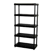 plastic storage shelves. blue hawk 72-in h x 36-in w 18-in d plastic storage shelves