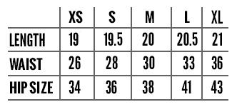 Circle Skirt Chart Circle Skirt Size Chart Squasht Boutique