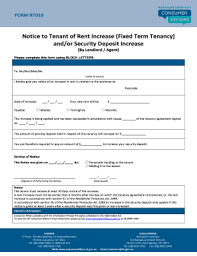 Rent Increase Form California 30 Printable Notice Of Rent Increase Forms And Templates Fillable