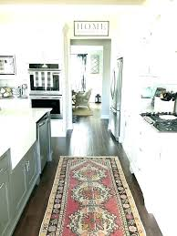 black and white kitchen rug gray