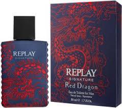 <b>Replay Signature Red</b> Dragon FM EDT 50ml Spray For Men 50ml ...