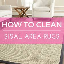 how to clean sisal rugs