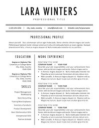 Minimalist Resume Templates Modern Cv Template Best Resume Bundle