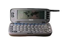 nokia keyboard phone. in 1996, nokia unleashed the communicator 9000 on an unsuspecting world. with a full qwerty keyboard, 24mhz processor, and giant 4.5-inch display, keyboard phone