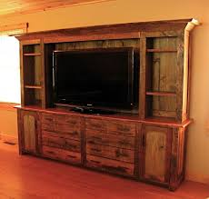 Rustic Wall Unit Entertainment Center With Barn Doors Design  Unit Rustic Entertainment Center 43