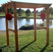 custom made customizable wooden arbor kit