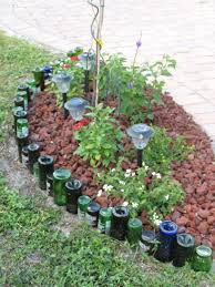 Small Picture Use old wine bottles to create a garden bed border or make a