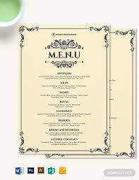 27 Elegant Dinner Menu Designs Psd Ai Vector Eps Free