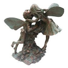 suffolk fairies 22 in fairy henry and elizabeth bronze patina collectible garden statue
