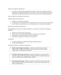Resume Job Objective Example Statement Examples Of Resumes Career Unique Career Ambitions Examples Resume