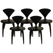 cherner furniture. Viyet - Designer Furniture Seating Cherner Chair Company Ebonized Side Chairs