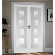 white double door. White Glazed Internal Double Doors Door