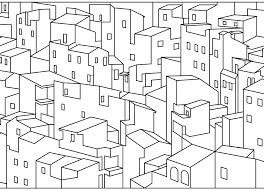 Dessin Imprimer Coloriage Maisons Ville Stress Coloriage Et Ville