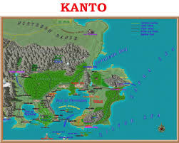 Tale of the Pokemon Master — MAP OF KANTO WITH ANIME LOCATIONS I've been...