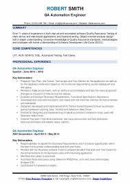 qa automation engineer resume sles