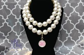 pearl necklace with monogram pendant beautiful 71 best monogram